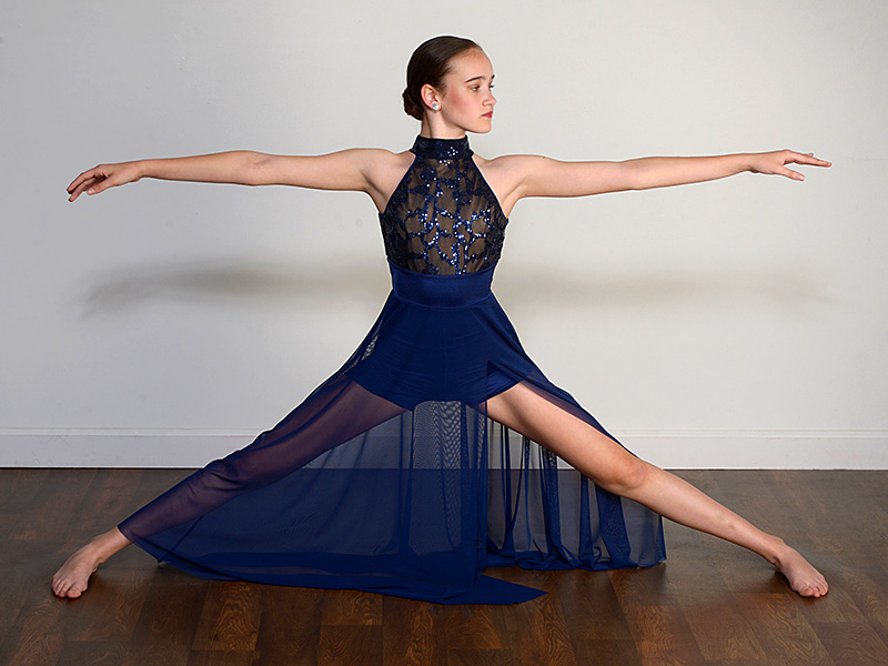 dayton dance conservatory dancer in blue outfit