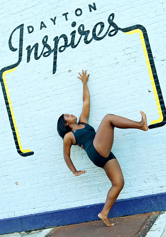 dayton dance conservatory dancer wall mural dayton inpires blue outfit